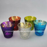 Sparyed Colorful Machine Made Candle Holder (ZT-095)