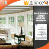 Solid Wood Clad Thermal Break Aluminum Awning Window, Modern American Style Aluminum Top Hung Wood Windows,