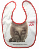 Factory OEM Produce Cute Cat Printed Cotton Baby Bib