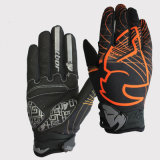 Black-Orange Fashion Full Finger Gloves for Sports Racing Glove (MAG54)