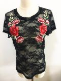 Woman Embroidery Tee Fashion Clothes