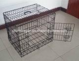 Double Door Metal Dog Crate Puppy Travel Cage