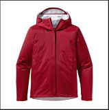 Red Women Fashion Parka Coat Simple Classic Jacket