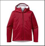 Red Women Fashion Parka Coat Simple Classic Jacket