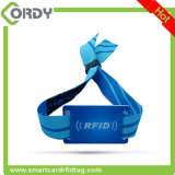 Hot sale Fabric 13.56MHz Ultralight EV1 Woven RFID Wristband for Evens