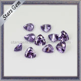 Shining Amethyst Trilliant Shape Synthetic Gemstone
