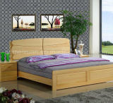 Solid Wooden Bed Modern Double Beds (M-X2233)