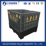 Plastic Pallet Box with 4 Closed Foldable Walls