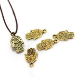 Cute Antique Bronze Plated Hand Pendants Custom Fashion Charm& Beads