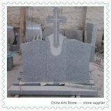 Cross and Book Nature Stone Granite Monument