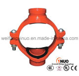 Ductile Iron 300 Psi Grooved Mechanical Cross with FM/UL/Ce Certificates
