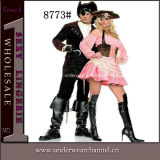 Sexy Halloween Women and Men Pirate Couple Costumes (8773)