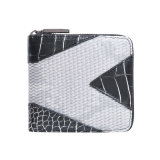 Contrast Colors Alligator Grain Women Wallet (MBNO041126)