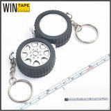 Novelty 1m/3ft Wheel Shaped Measuring Tape with Key Ring