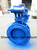 HP Metal Hard Seal Butterfly Valve with Gearbox