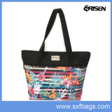 Eco Friendly Custom Shopping Bag Fashion Flower Printing Shoulder Bag