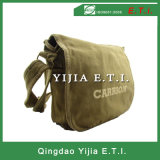 Cotton Canvas Messenger Bag with Self Material Shoulder Handle