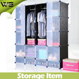 Fashionable PP Plastic environment Friendly Material Storage Wardrobe Closet