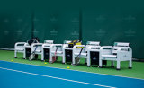 (TP-078B) Powder Coated Aluminum Courtside Benches, Tennis Chairs