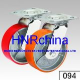 Red PU Wheel Heavy Duty Caster Wheel