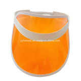 Fashion Transparent PVC Sun Visor with PU Leather