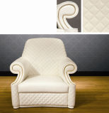 Bonliving Living Room Furniture Set/White Leather Sofa/Dining Set