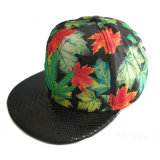 New Fashion Sublimation Printing 6 Panel Hat with Leather Brim (GK01-Q0096)