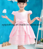 Princess Dress, Dress with Bow-Know, Flower Girl′s Dress,