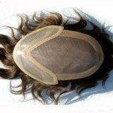 100% Human Hair Toupee/Men′s Toupee/Hairpieces