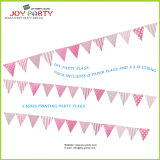 Pink Bunting Banner for Valentine′s Day Decoration