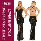 Lady Shiny Night Party Black Cheap Long Dress (L5088)