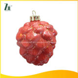 Hanging Glass Christmas Pinecone Decoration Supplies