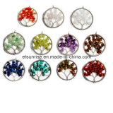 Semi Precious Stone Fashion Crystal Gemstone Beadjewelry Pendant (ESB01474)