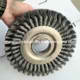200mm Semi Twist Knot Steel Wire Wheel Brush (YY-108)