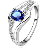 Hand Setting 925 Silver Gemstone Ring Jewelry for Women
