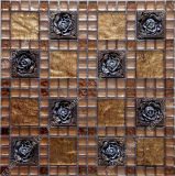 Crystal Glass Mosaic, Resin Mix Diamond Crystal Mosaic Pattern, Glass Mosaic