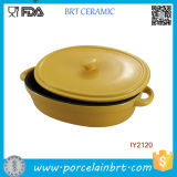 Hot Sale Kitchenware Ceramic Baking Dish with Lid Cookware