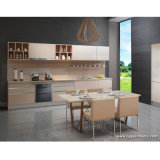 Oppein Pastoral Best Particle Board Wood Kitchen Furniture (OP13-058)