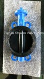 Bare Stem Cast Iron Body Resilient Seat Wafer Butterfly Valve