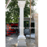 White Marble Stone Sculpture Column (SY-C003)