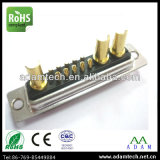 Solder Type Power Combo 13W3 Male D-SUB Connector (AD13W3M)