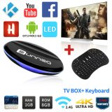 Full Loaded Android TV Box Amlogic S905X Smart Set Top Box WiFi with Wireless Keyboard