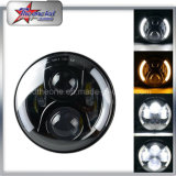 High Low Beam Halo 7 Inch LED Headlights for Jeep
