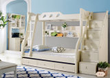 Korean Style Wooden Kids Bunk Bed for Children Bedroom Furniture (9008)