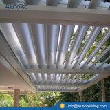 White Color Motor Control Aluminum Roof System for Patio House