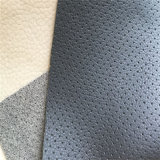 Lichee Grain Punching Microfiber Leather PU Leather for Car Seat Cover (HS-M314)