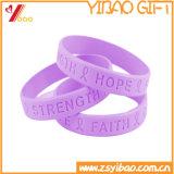 Cheap Custom Emboss Silicone Bracelet/Wristband (YB-AB-007)