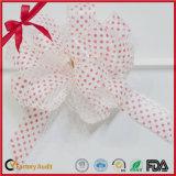 Pink Polka DOT POM-POM Pull Bow for Christmas Decoration