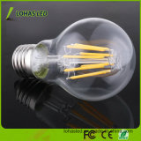 E27 2W-8W Dimmable Filament LED Light Bulb with Ce RoHS