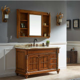 Wholesale Oak Wood Bathroom Cabinet Vanity Sink Unit (GSP14-035)